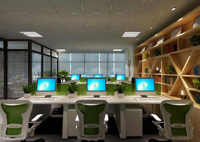 100平方办公室办公区域软装设计方案效果图