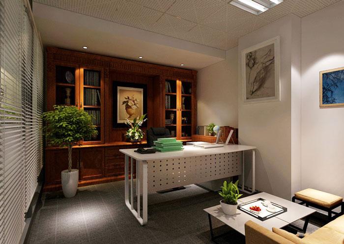 100平方老总办公室软装设计方案效果图