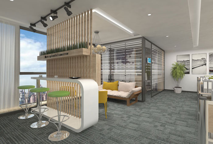 270平方现代简约办公室装修设计案例