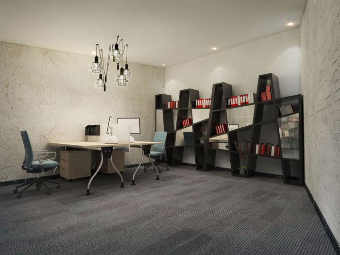 750平方办公室设计部门软装设计方案效果图