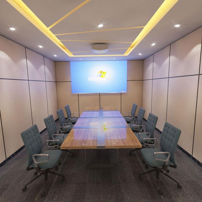 750平方办公室会议室软装设计方案效果图