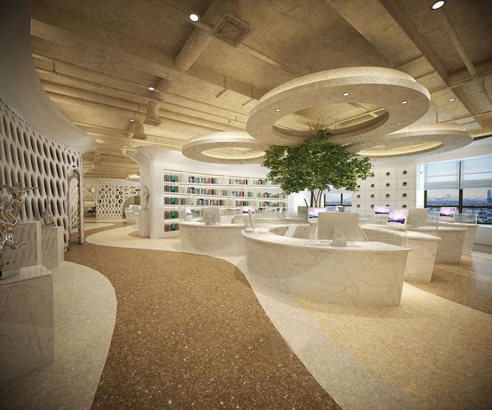 600平方办公室过道方案设计效果图