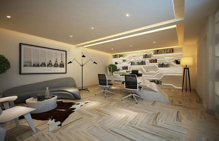 600平方总经理办公室方案设计效果图