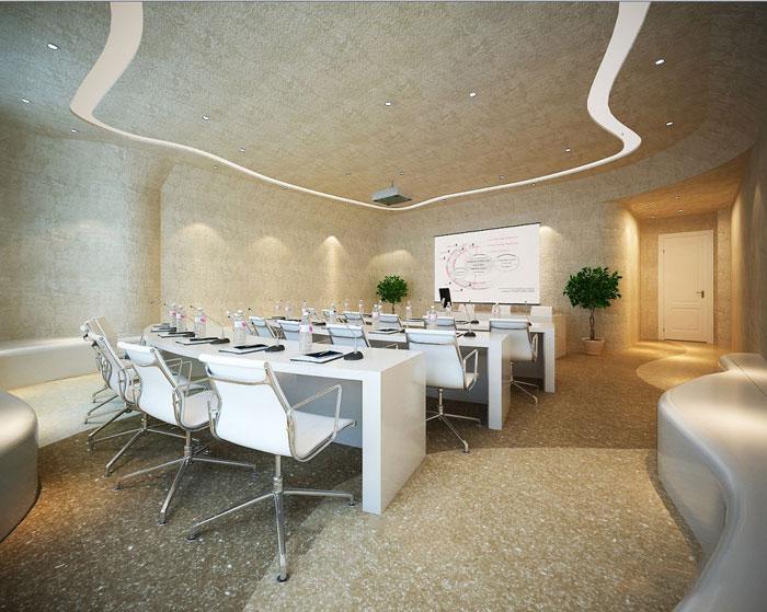 600平方办公室方案培训室设计效果图