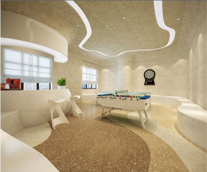 600平方办公室休息区域方案设计效果图