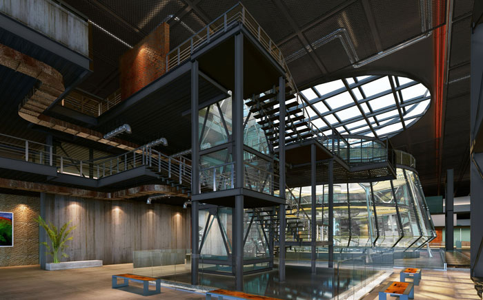 1800平方办公室整体设计方案效果图