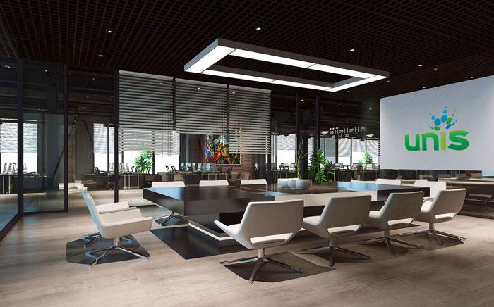 1800平方办公室办公、会议设计方案效果图