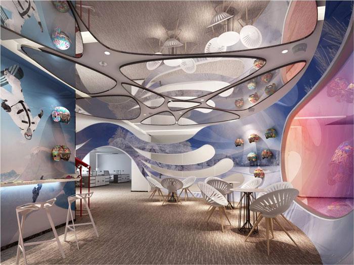 800平方办公室接待区域软装设计方案效果图