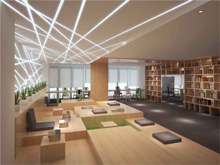 800平方办公室办公区域软装设计方案效果图