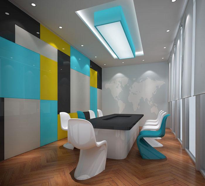 800平方办公室会议室软装设计方案效果图