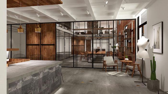 850平方厂房办公室装修设计案例