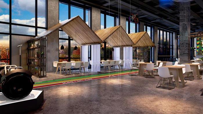 2200平方厂房办公室装修设计案例