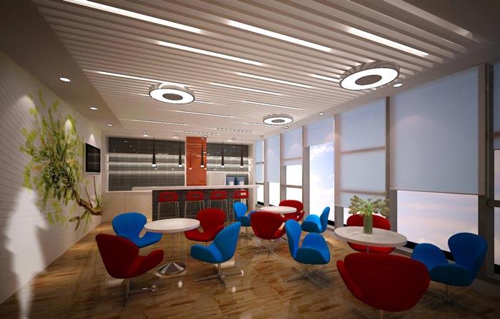 2600平方科技办公室装修设计案例