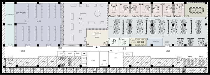 1400平方办公室平面设计图
