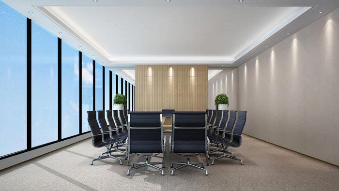 1400平方办公室会议室装修设计方案效果图