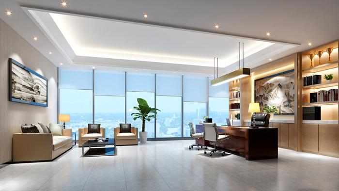 1400平方总经理办公室装修设计方案效果图