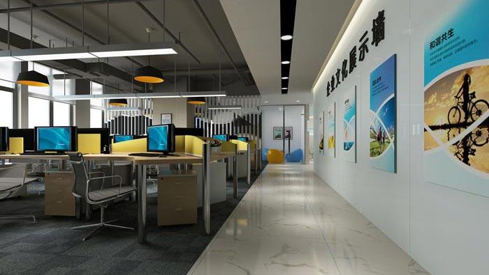 600平方培训机构办公室装修设计案例