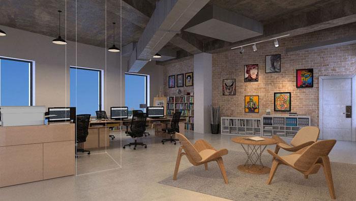 150平方工业风办公室装修设计案例