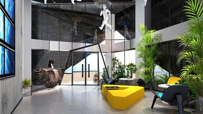 1250平方工业风办公室装修设计案例