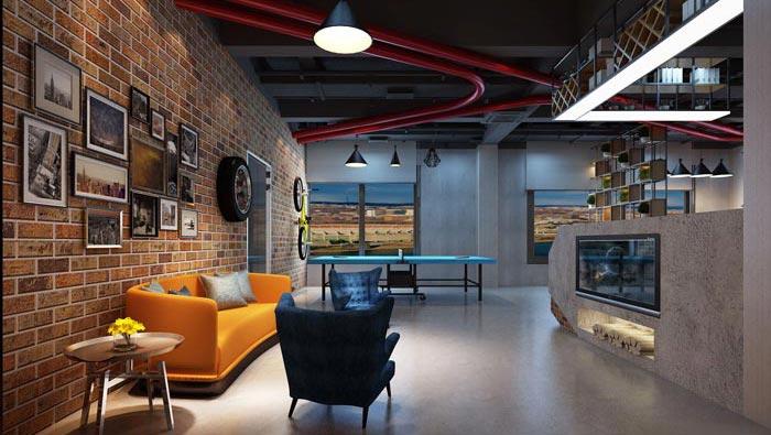 700平方工业风办公室装修设计案例