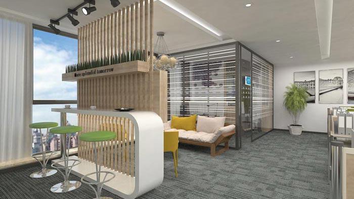260平方创业公司办公室装修设计案例