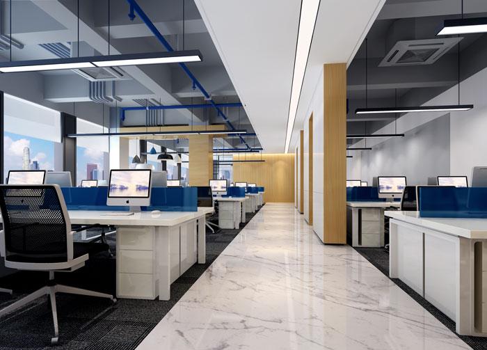 办公室办公区域装修设计效果图