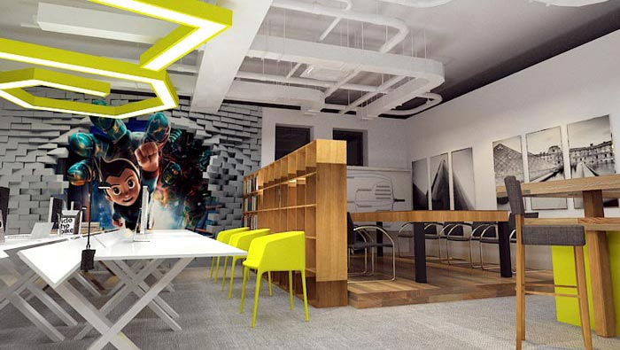 120平方工作室装修效果图