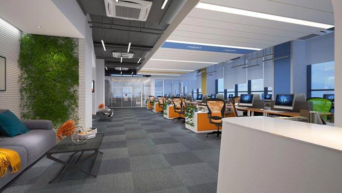 P2P金融公司办公室装修设计效果图