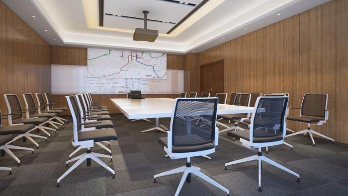 480平方现代简约办公室装修设计案例