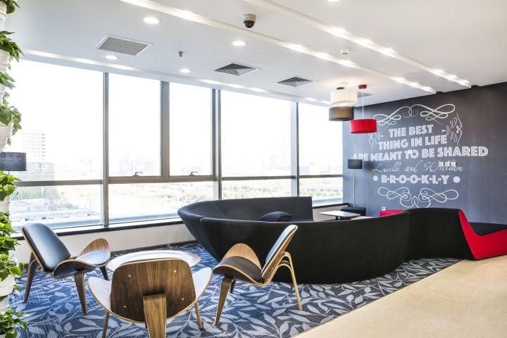 京东办公室接待区域装修设计效果图