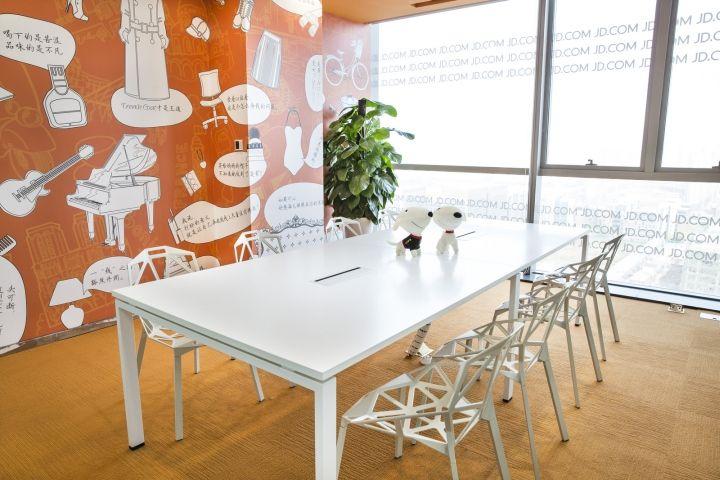 京东办公室讨论区域装修设计效果图