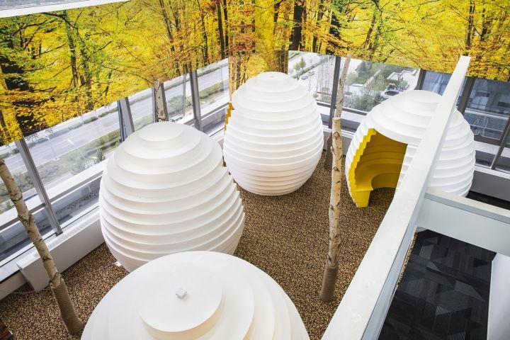 京东办公室阳台区域装修设计效果图