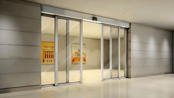 办公楼自动感应门效果图