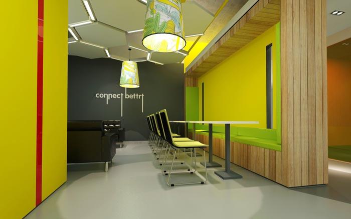 金融租赁公司办公室休息区域软装设计方案效果图