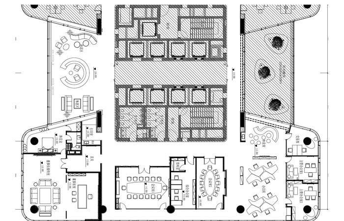 金融公司办公室设计方案平面图