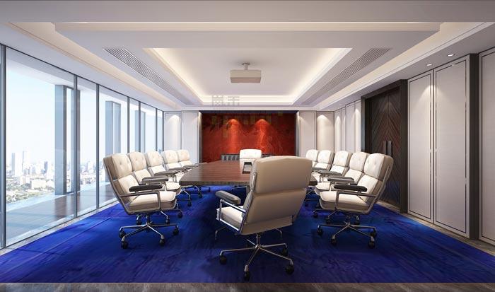金融公司办公室会议室设计方案效果图