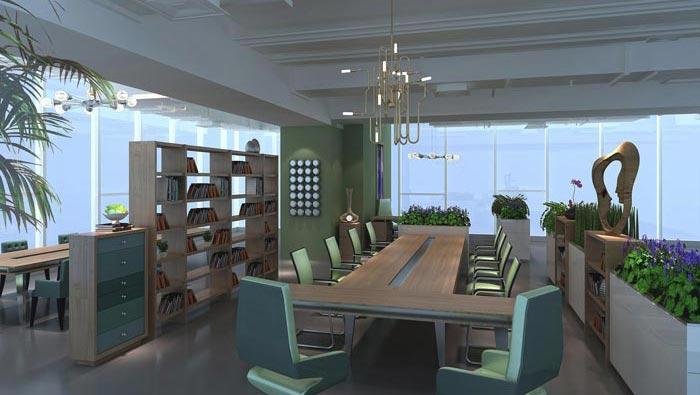 传媒公司办公室装修设计案例
