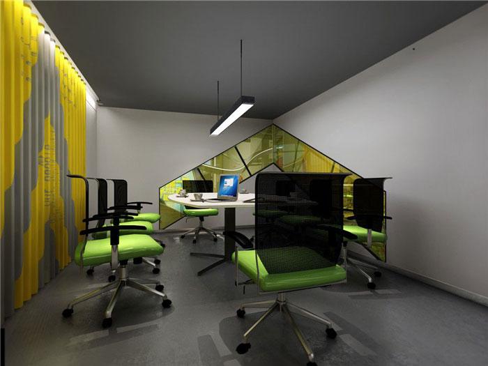 互联网公司办公室会议室装修设计案例效果图