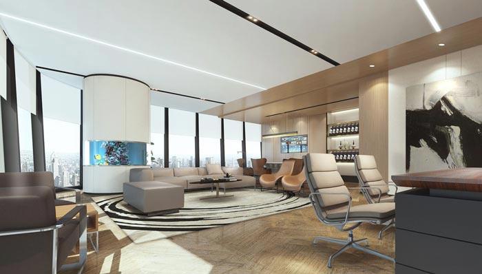 金融保险公司办公室装修设计效果图
