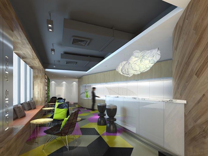 金融咨询服务公司办公室茶水间装修设计效果图