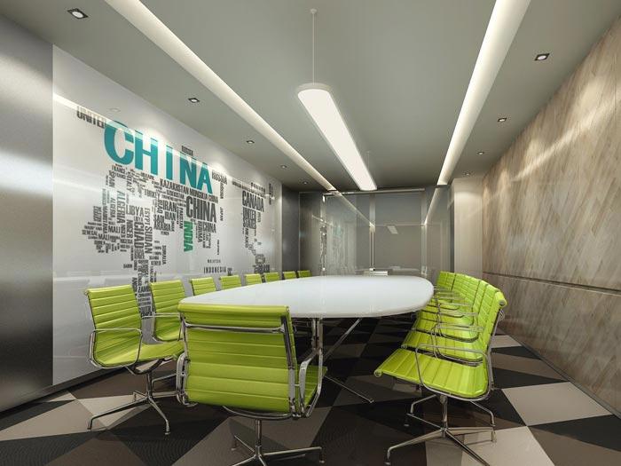 金融咨询服务公司办公室会议室装修设计效果图