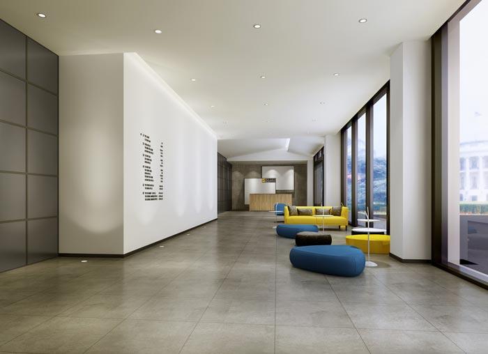 现代简约风格办公室大厅装修设计效果图