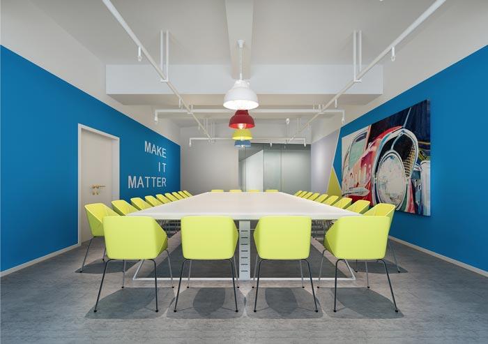 现代简约风格办公室会议室装修设计效果图
