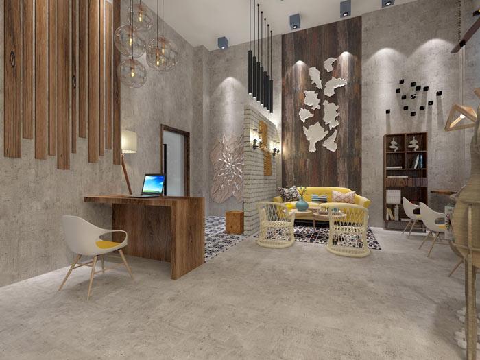 设计事务所办公室休息区域设计方案效果图