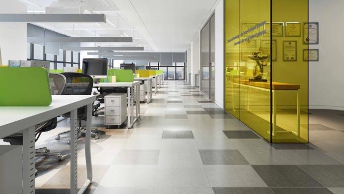 金融公司办公室办公室区域装修设计案例