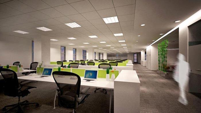 科技公司办公室办公区域装修设计案例