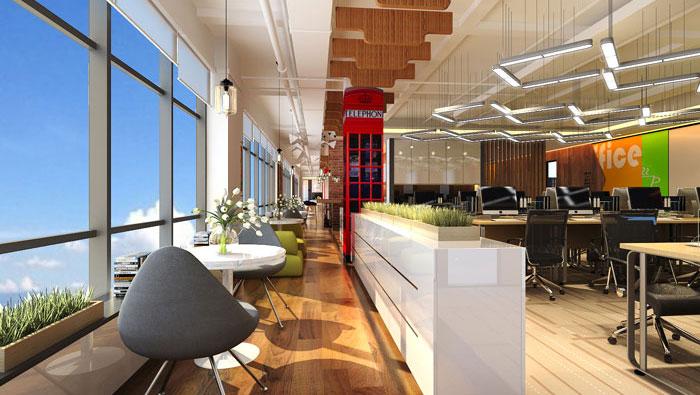电子商务办公室办公区域装修设计案例