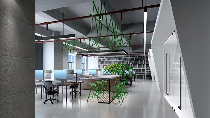 广告公司办公室办公空间装修设计案例