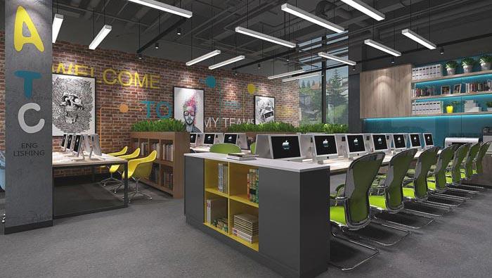 教育行业办公室办公室空间装修设计案例