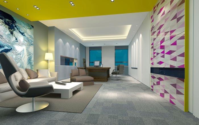 金融租赁公司总经理办公室装修设计效果图